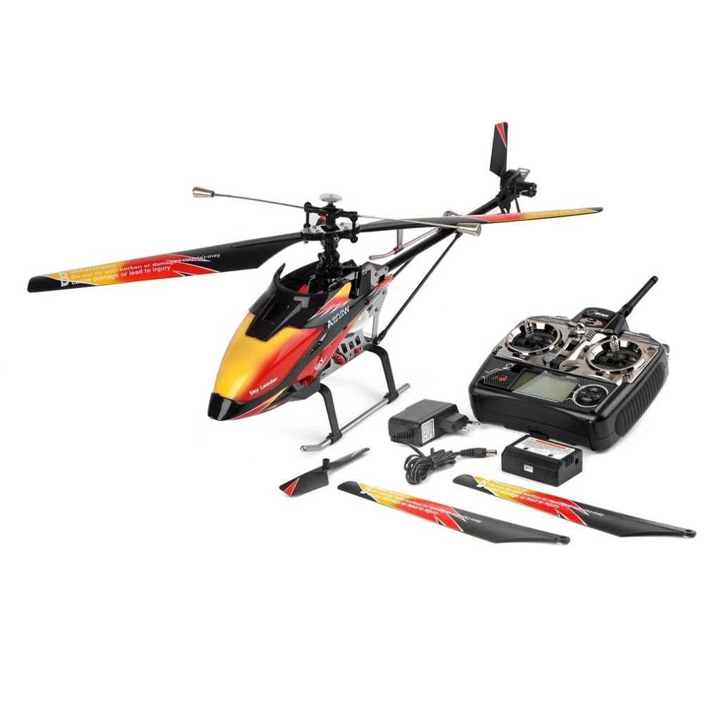 V913 Brushless 2.4G 4CH Single Blade Built-in Gyro Super Stable Flight High efficiency Motor RC Helicopter wholesale eagle a3 super ii flight controll gyro 3d avcs for fixed fpv half set