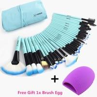 Vander Pro 32 Pcs Makeup Brushes Bag Purple Set Foundation Pinceaux Maquillage Cosmetics Brush Tools Kit