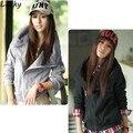 2015 Новых Корейских женщин Тонкий Sexy Топ Разработанный Капюшоном Пальто и Куртки 3 Цвет 4 Размер 56