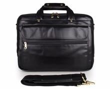 Genuine leather Men's handbag High quality Cowhide Vintage casual male Business laptop shoulder bag Cool Cowhide document