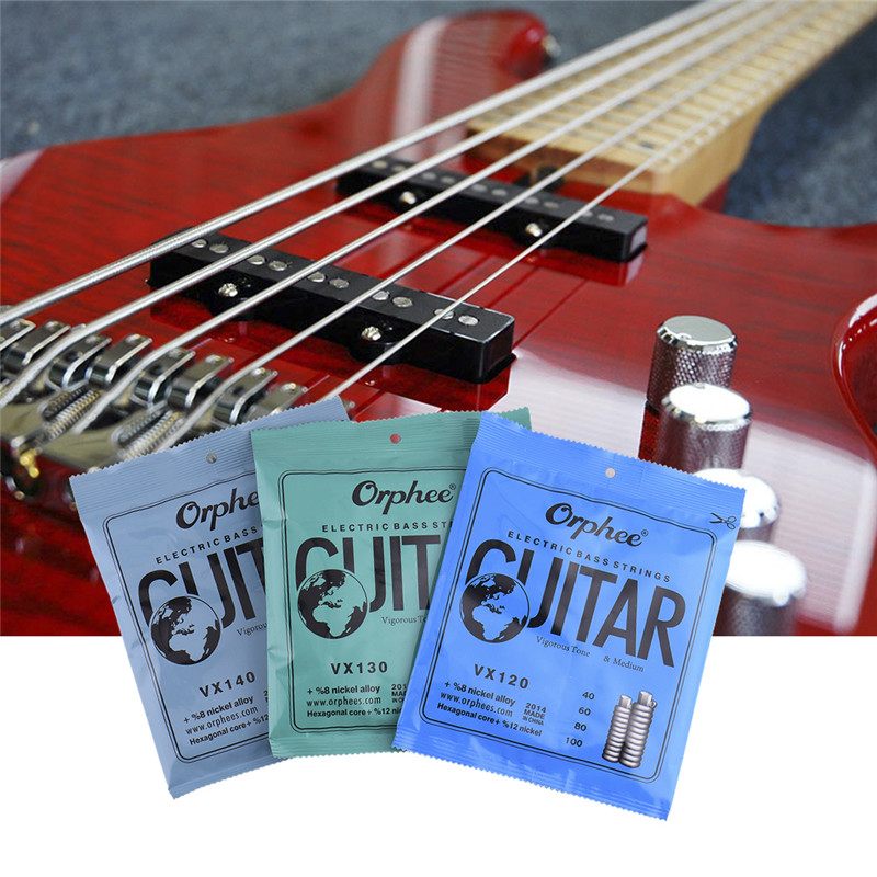 Electric Bass Strings Bass Guitar Strings 4 5 6 String Conventional Electric Bass Series (color plastic bag seal) 4 pcs bass strings bass guitar parts accessories guitar strings stainless steel silver plated gauge bass guitar