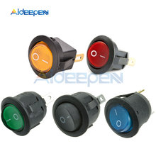 AC 250 V 6A 125 V 10A Mini 3 Pin Saklar Lampu LED Mobil Perahu Round Rocker On/Off tombol Toggle Switch Biru Kuning Merah Hijau Hitam(China)
