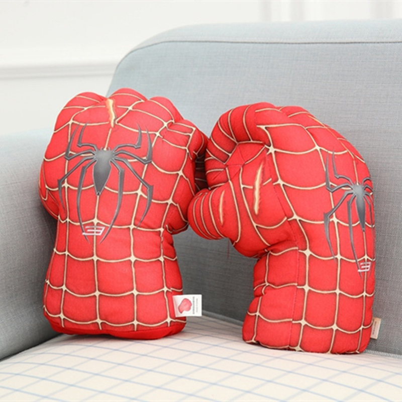 Plush The Incredible Hulk Spider-man Cosplay Gloves Superhero Hulk Spiderman Children Halloween Christmas Kids Costume Toys