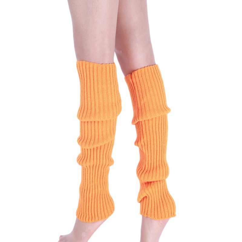 Candy - สีผ้ายืดขาอุ่นผู้หญิงต้นขาสีอบอุ่นโครเชต์คลาสสิกรองเท้าอุ่นถุงเท้าฤดูใบไม้ร่วงและฤดูหนาว