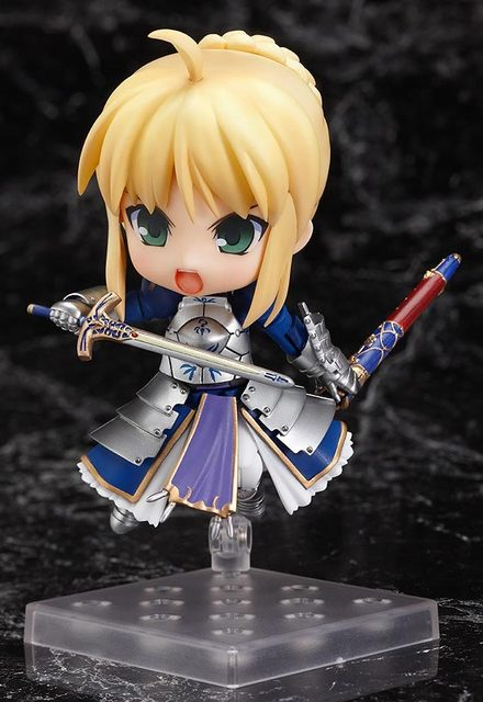 Q version Fate stay night saber Action Figure Collection toys for christmas gift Free shipping ToyO00008FSN