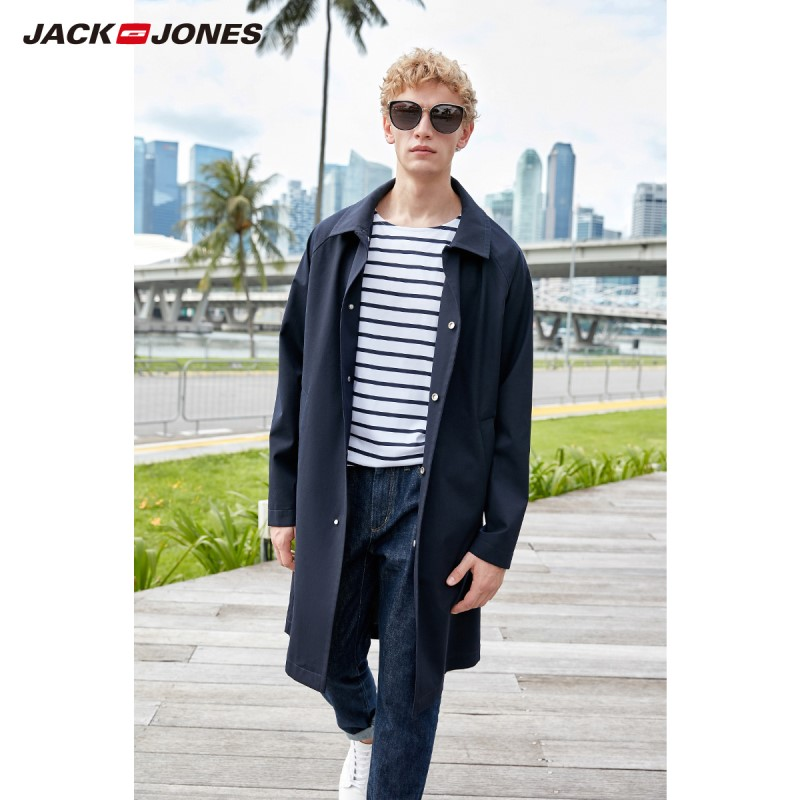 KUEGOU New Spring Mens Casual Jackets And Coats Thin Black Color Brand Clothing For Man s