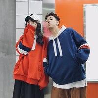 Privathinker Harajuku Oversized Hoodie Women Long Sleeve Patch Sweatshirts Coat Korean Loose Couple Sweatshirt 2018