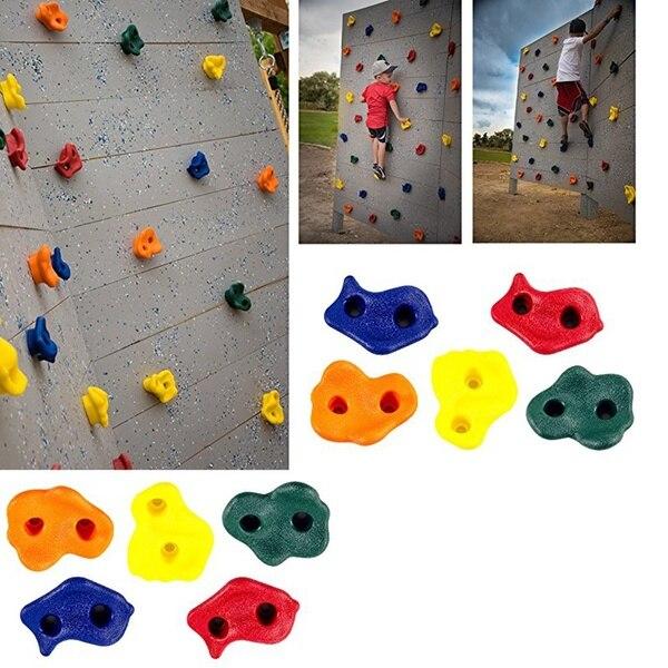 Скалолазание камни стены набор держателя держит детей игрушки для помещений случайный