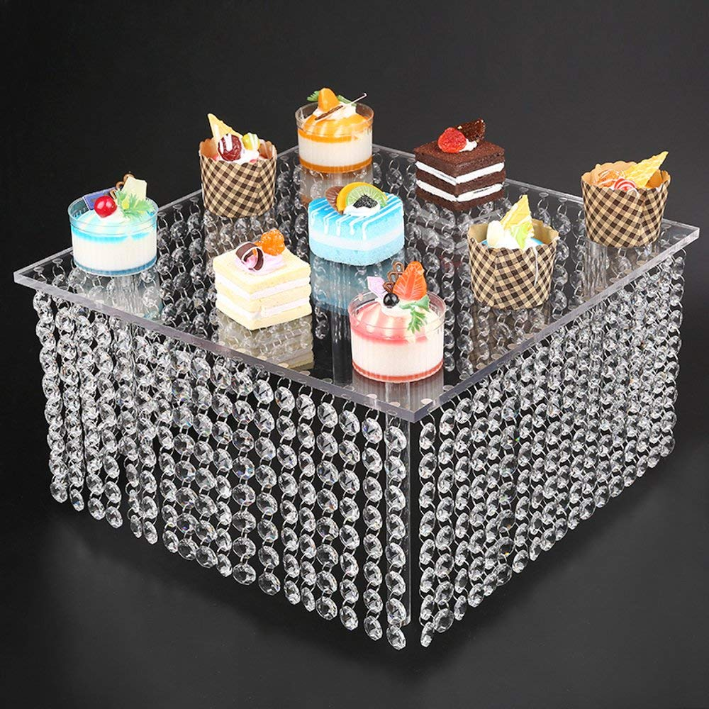 US $590.0 |5sets/lot 3 Tier Crystal Cake Stand Square Acrylic Cupcake stand Christmas Wedding Anniversary Birthday Party Display Tools-in Stands from ...