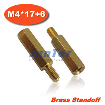 500pcs/lot Brass Standoff Spacer M4 Male x M4 Female -17mm