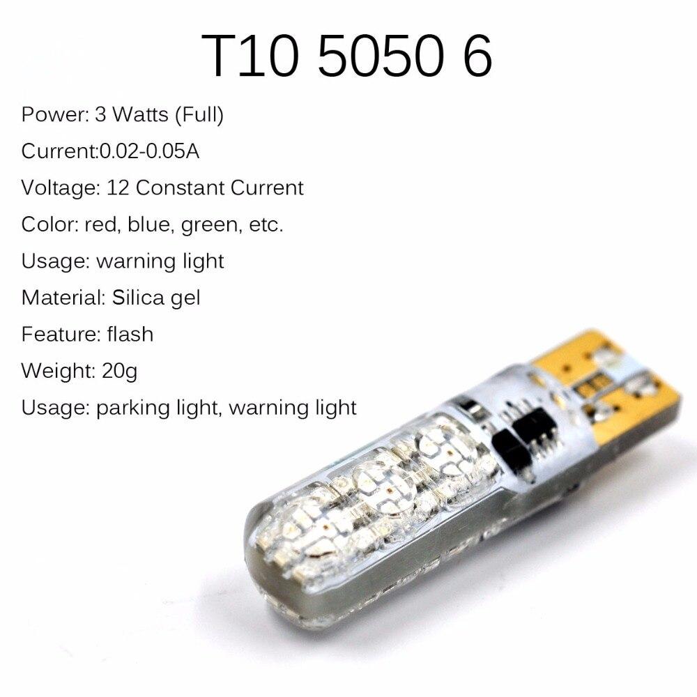 AutoEC 1 set T10 194 168 W5W Klinaste žarnice SILICA 5050 6 SMD LED - Avtomobilske luči - Fotografija 3