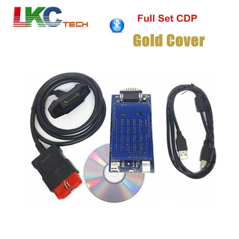 imágenes para Precio de fábrica de Oro Vivienda CDP PRO Herramienta de Diagnóstico de 2015 R1 la más nueva Versión de Activación Libre Nueva VCI TCS CDP PRO Escáner + Bluetooth