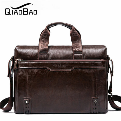 QIAO BAO 2017 Newest Male handbag shoulder laptop bag man bag horizontal business bag 1166 - 5