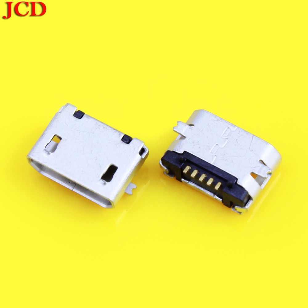 JCD ใหม่ 5Pin Micro USB 5pin SMD หญิงสำหรับโทรศัพท์มือถือ Mini USB jack PCB เชื่อมซ็อกเก็ตปากแบน