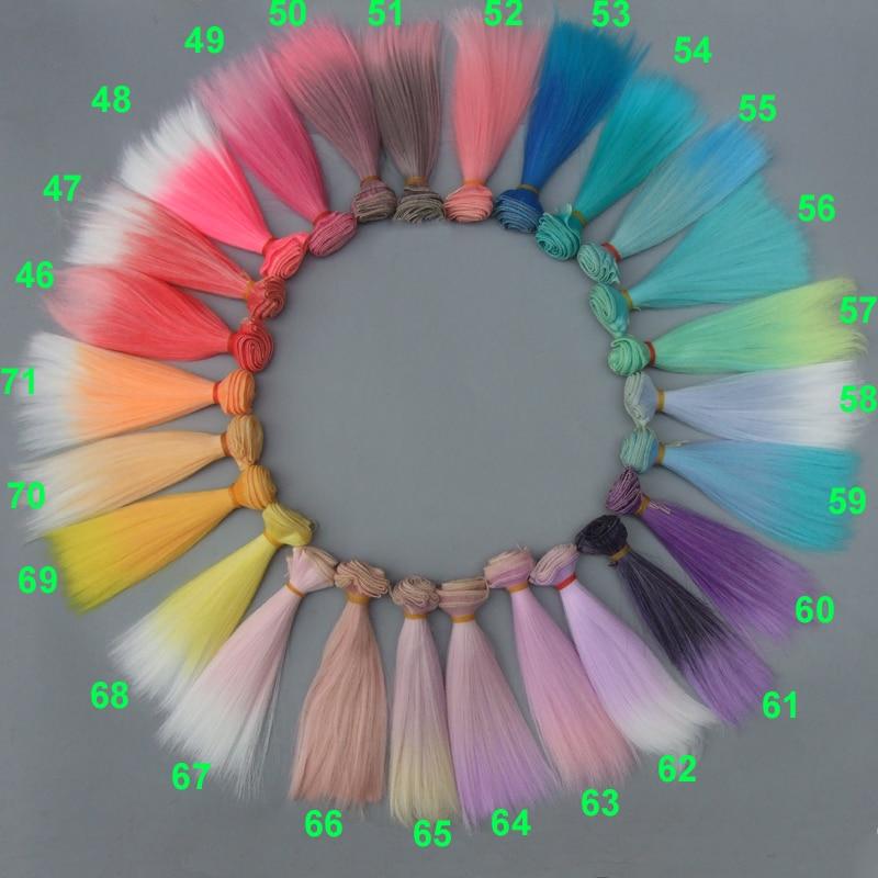 Wholesales Straight Hair DIY Hair/wigs For BJD For Monster High For Barbie Dolls Diy Handmada Doll Hair