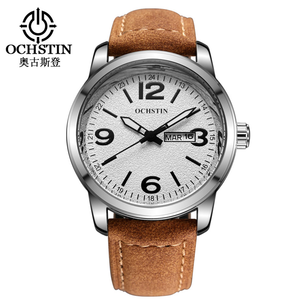 OCHSTIN Quartz Watch Men Luxury Casual Male Clock Date Frosted Wrist Watches relogio masculino Military Wristwatches Man A