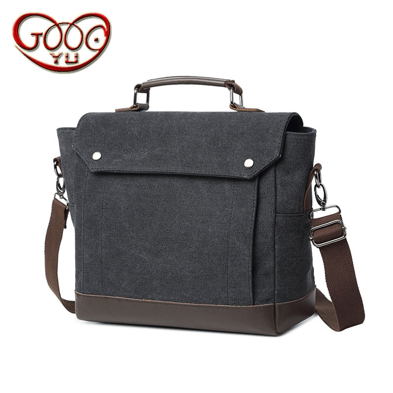 New canvas with leather shoulder bag solid color cross section square handbag High-end business and leisure briefcase 15 inch co aetoo with leather handbag section briefcase men and women fashion personality business package canvas laptop bag 15 inch