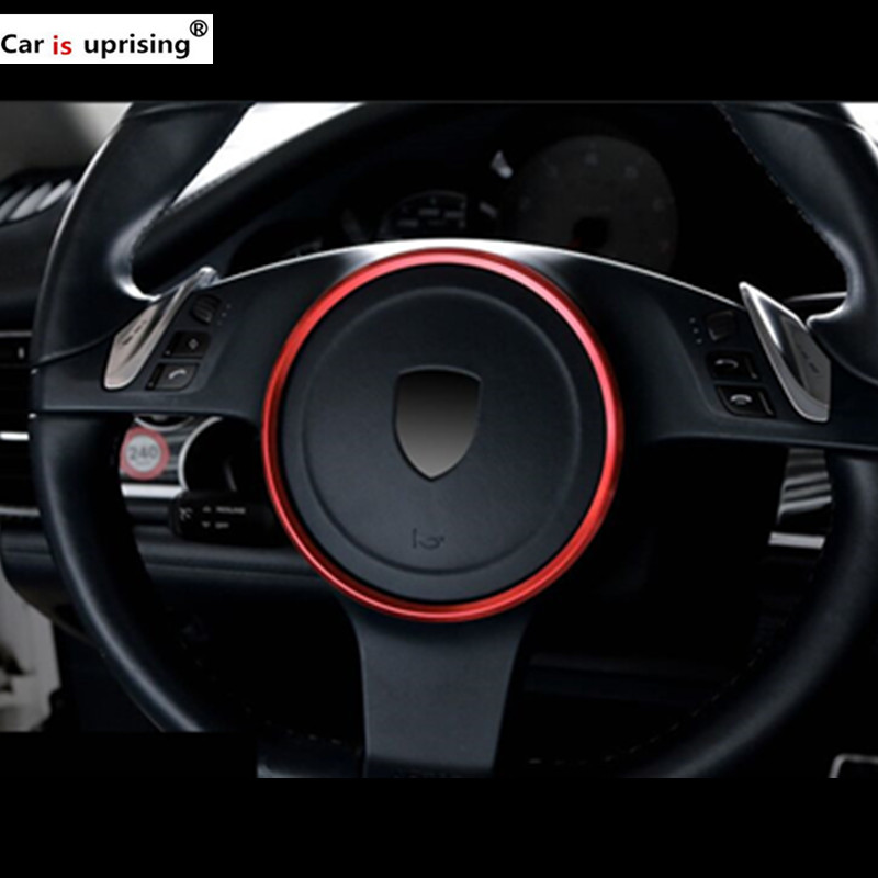 Steering Wheel sequins Cover Trim Car 3D Styling for Porsche Panamera Cayenne macan Interior Decoration Ring