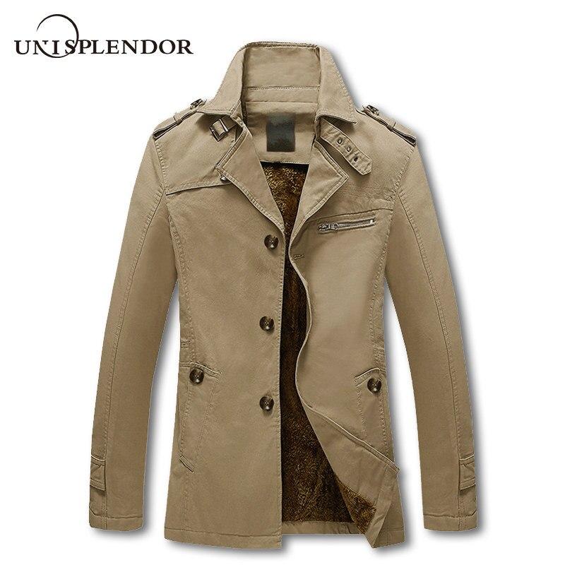 Kleidung Qualität Herbst Baumwolle Männlichen Top Von Herren Mantel M 3XL Plus Größe Mode Winter Männer Jacke Mantel Großhandel Lange Trenchcoat Marke qSMpGLVUz