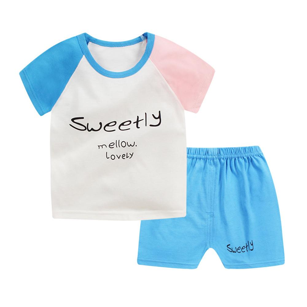 1 2 3 4 Year Boys Clothes Girls Clothes 2018 New Summer Casual Children Clothing Set Shirts + Shorts 2pcs Kids Suits Outfits