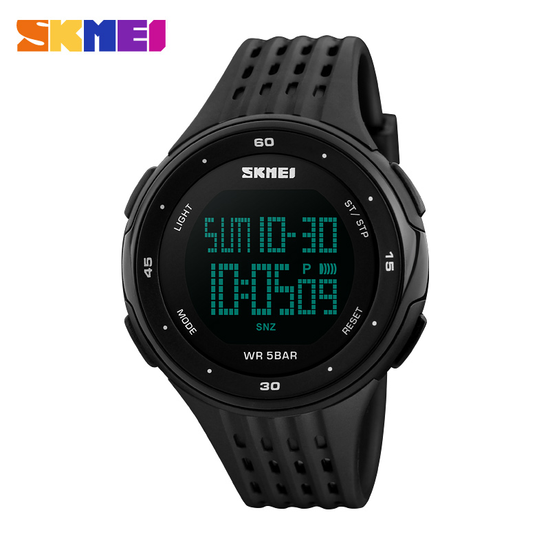2018 SKMEI Brand New Watch Men Stopwatch Waterproof LED Digital Military Sports Watches Students Fashion Outdoor Wristwatch