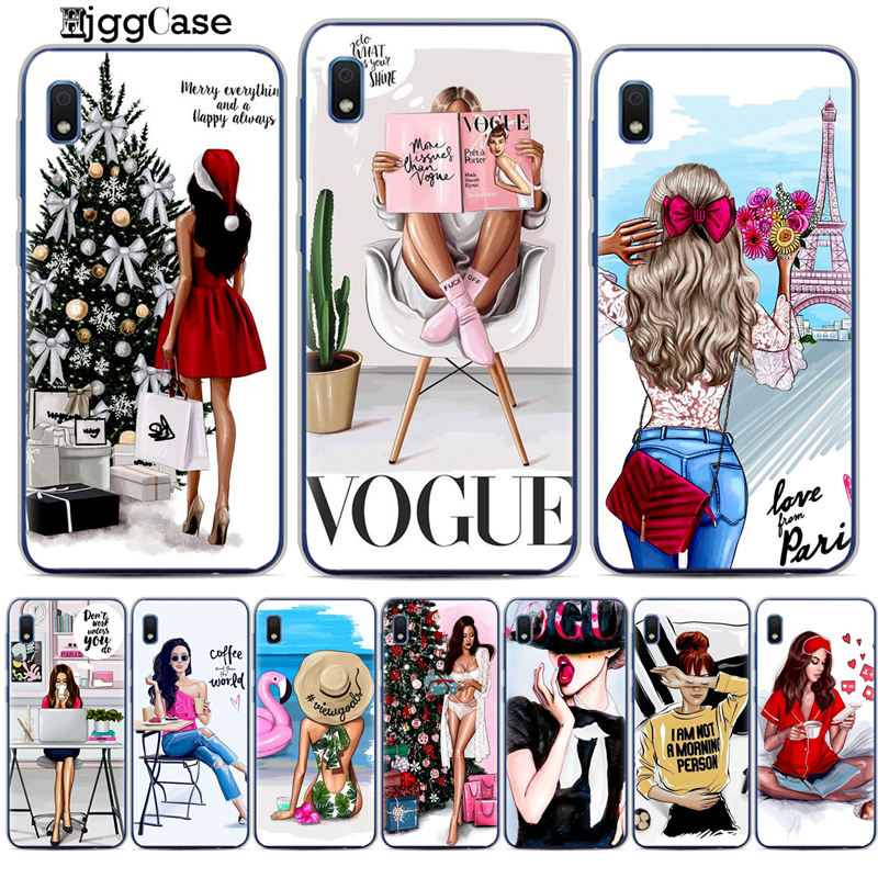 For Samsung Galaxy A30 VOGUE Christmas <font><b>Sexy</b></font> Bikini Girl Soft TPU silicone Phone <font><b>Case</b></font> For Coque A10 A20 A30 A40 A50 A70 A7 Cover image