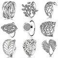 2015 colecção Primavera anel de prata esterlina 925 anéis para as mulheres flor e asa Anéis anillos belas Memnon jóias de prata set