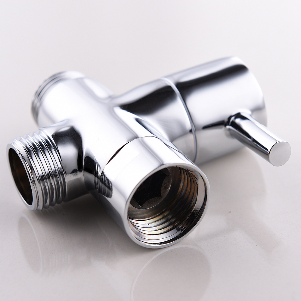 Free shipping brass 3 way diverter valve for handheld shower head or bath tap switch outlet t valve t adapter in Faucet Cartridges from Home Improvement
