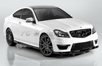 Car Accessories Carbon Fiber VRS Style Front Lip Fit For 2011 2013 MB W204 C63 AMG Sedan Coupe Front Lip Splitter Car styling