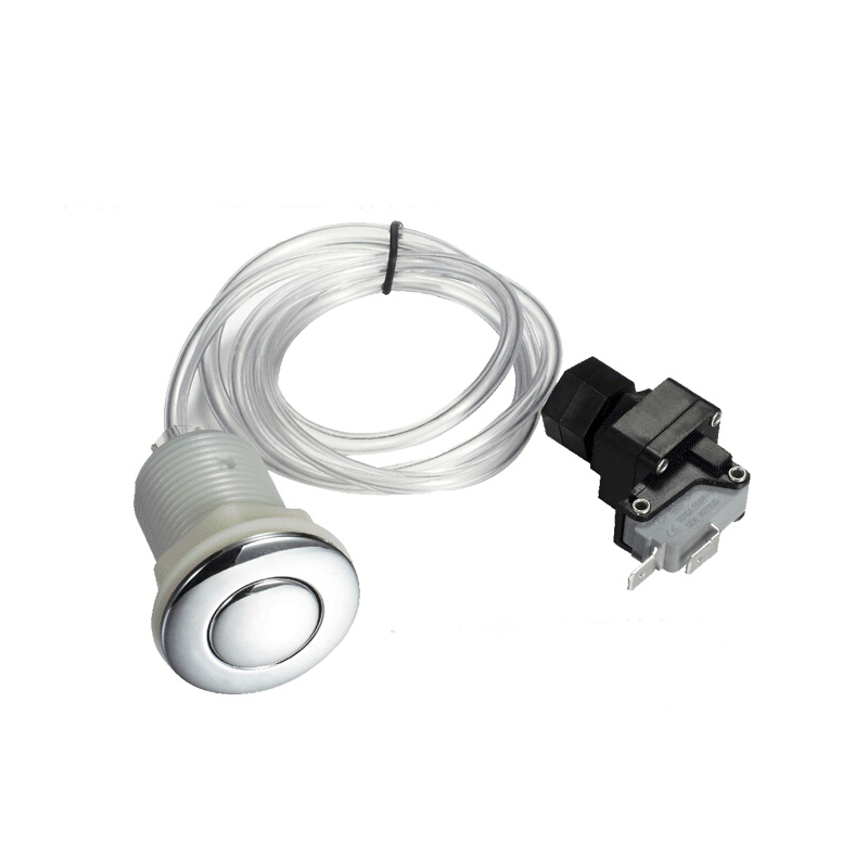 Garbage Disposer Spa Bathtub Pneumatic Air Switch Button Kit For Insinkerator Evolution Food Waste Equipment