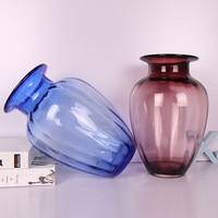 Creative Colorful Glass Vase Decoration Home Tabletop Flower Vase Flower Pot Garden Home Decoration Accessories