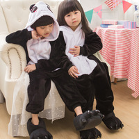 2018 New Kids Kigurumi Panda Pajamas Cosplay Costumes Flannel Animal Onesie Sleepwear Stitch Unicorn Pikachu Boys