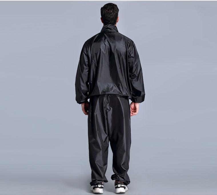 pvc sauna suit plastic pants and top