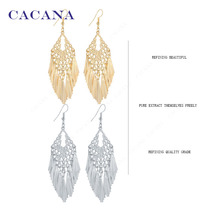 CACANA  Dangle Long Earrings For Women Tassel Skirt Style Top Quality Bijouterie Hot Sale No.A620A621
