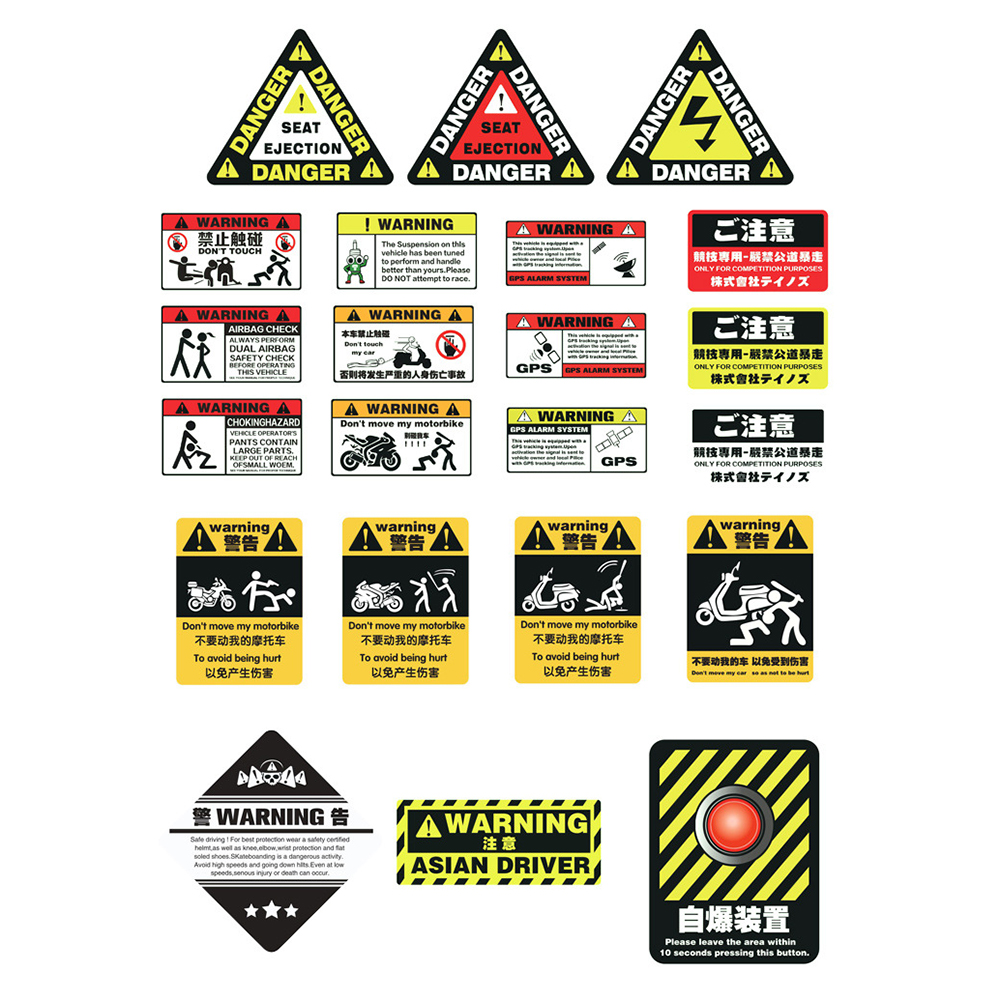 Motorcycle Sticker Car Sticker Unit Scooter Decals Motorbike Waterproof About 6 10cm Pegatinas for Honda Suzuki Kawasaki Yamaha in Decals Stickers from Automobiles Motorcycles