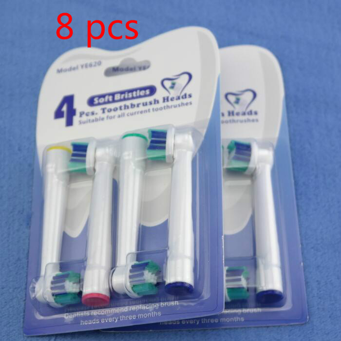 8 pc for Oral B Cross Action Replacement Sonic Electric Toothbrush Heads Rotation Braun Toothbrush Heads Oral Hygiene Brush Head 4 pcs pack oral b replacement heads for rotation type electric toothbrush triple action eb30 brush heads deep clean