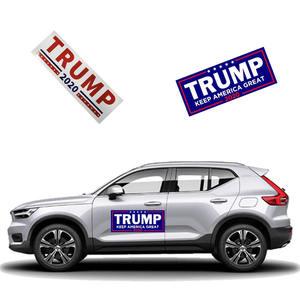 "Image 3 - 10 pcs דונלד טראמפ לנשיא מחדש בחירות רכב מדבקה גדול שוב ארה""ב דגל כובע רכב פגוש מדבקה"