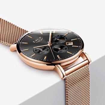 a75a0796b7f0 Nuevo en este momento Relojes para hombre marca de moda de lujo Ultra  delgada de cuarzo reloj de los hombres de la fase de luna reloj de negocios  deporte ...