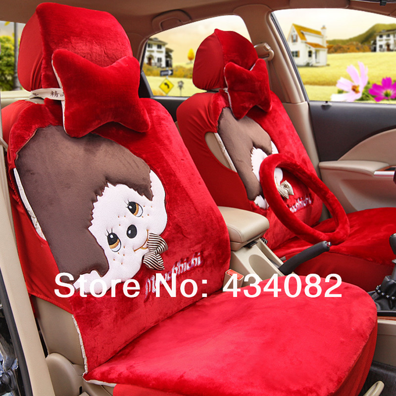 Swell Front And Bench A Set Car Seat Cover Set Short Wool Pretty Machost Co Dining Chair Design Ideas Machostcouk