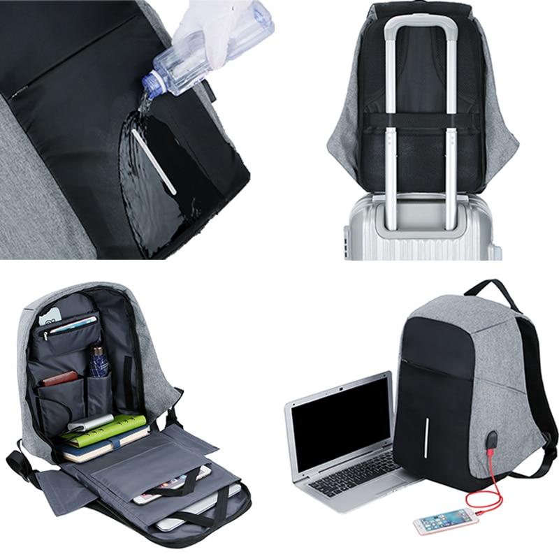 Bbirds Usb Charging Men 15 Inch Laptop Backpacks Waterproof Men's Business Bag Anti Theft Roubo Backpack Nylon School #5