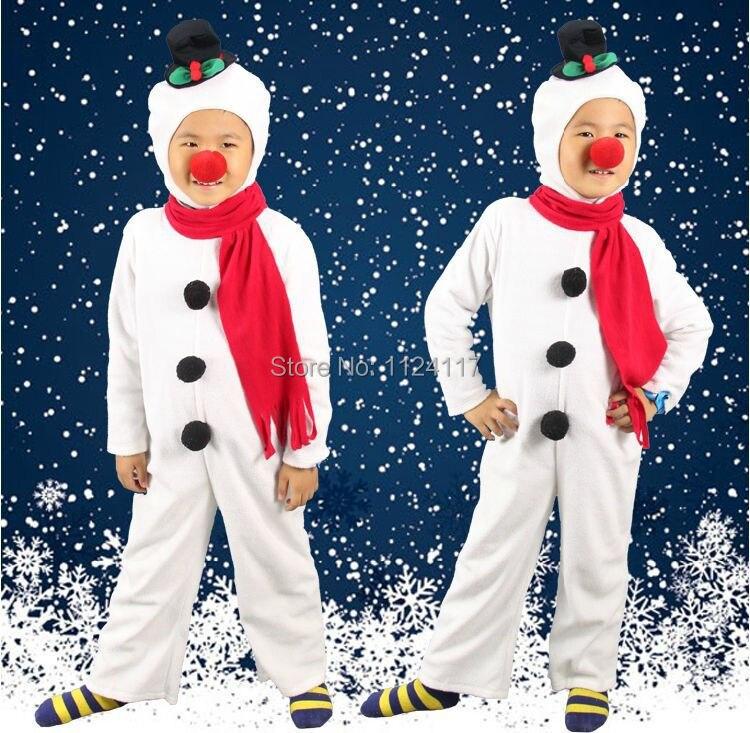 SNOW MAN NEW CHILDREN/'S COSTUME FANCY DRESS FOR CHRISTMAS XMAS