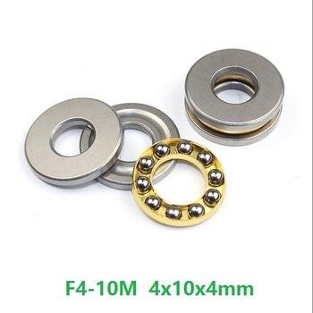 100pcs/lot F4-10M Axial Ball Thrust Bearing 4x10x4 mm miniature bearing Plane thrust ball bearing 4*10*4mm