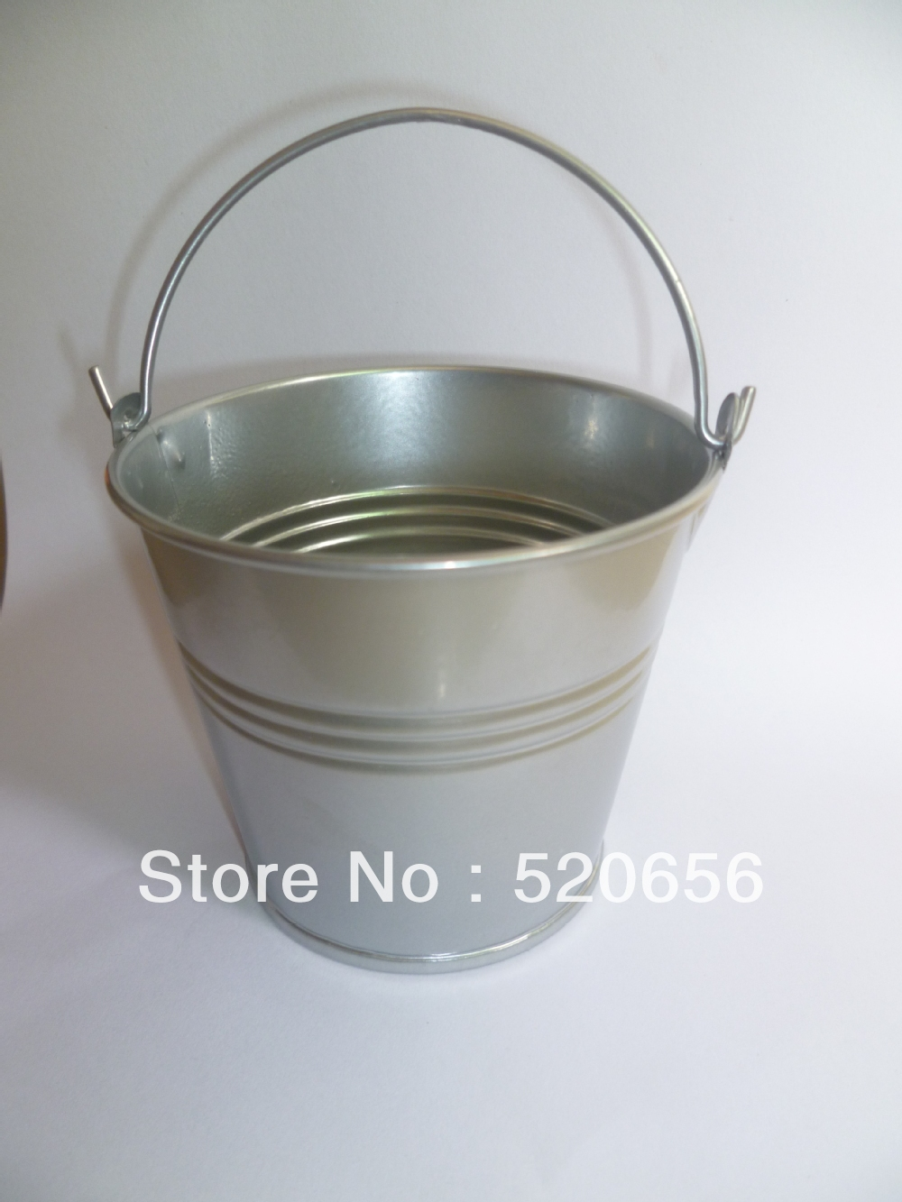 Fedex free shipping silver wedding pails baby shower for Small pail buckets
