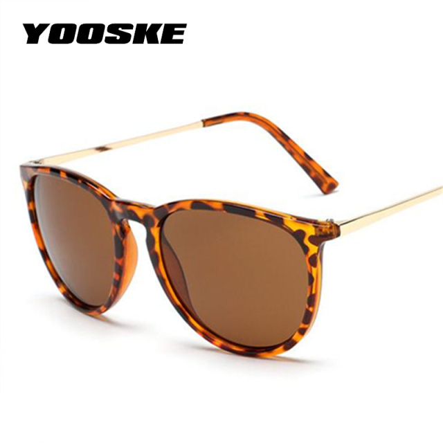 171628a0842 YOOSKE 2018 Retro Male Round Sunglasses Women Men Brand Designer Sun Glasses  for Women Alloy Mirror