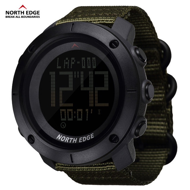 Special Price NORTH EDGE Men's sports Digital watch Hours for Running Swimming military army watches water resistant 50m stopwatch timer