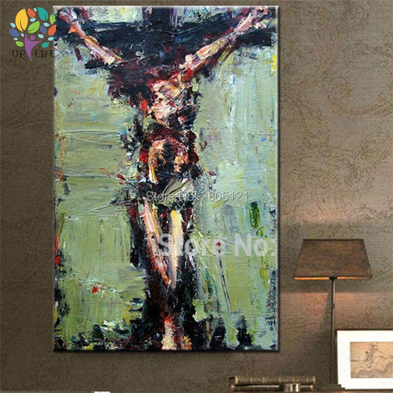 tangan dicat dinding lukisan Krismas lukisan minyak Jesus Hari Paskah - Hiasan rumah - Foto 4