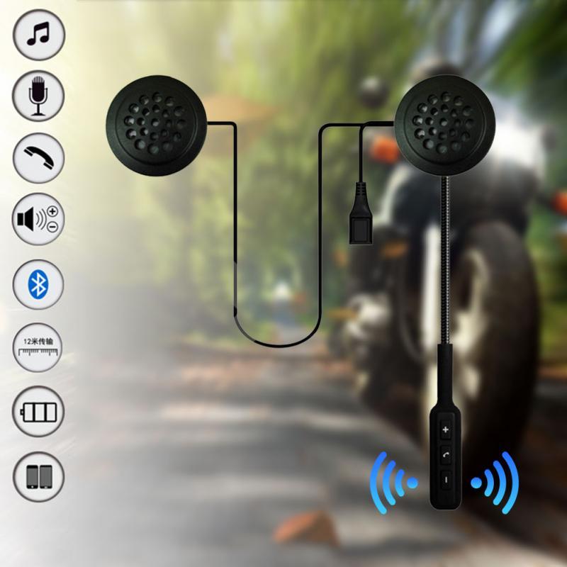 1PC Motorcycle Smart Helmet Headset Motorbike With Microphone Wireless Bluetooth