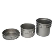 2016 Outdoor camping Super light cooking Titanium pots Titanium cookware sets
