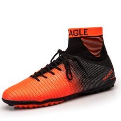 Wysoka kostka murawa futsalu buty 2017 Top Superfly buty piłkarskie mężczyzn tanie oryginalny kryty piłka nożna knagi kobiet Futzalki rozmiar 39 -45