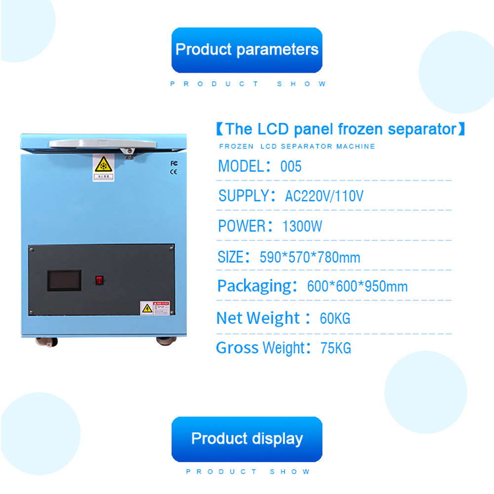 180C LCD Freezing Machine Frozen Separator Instruments LCD Touch Screen Separating Machine For Mobile Phone